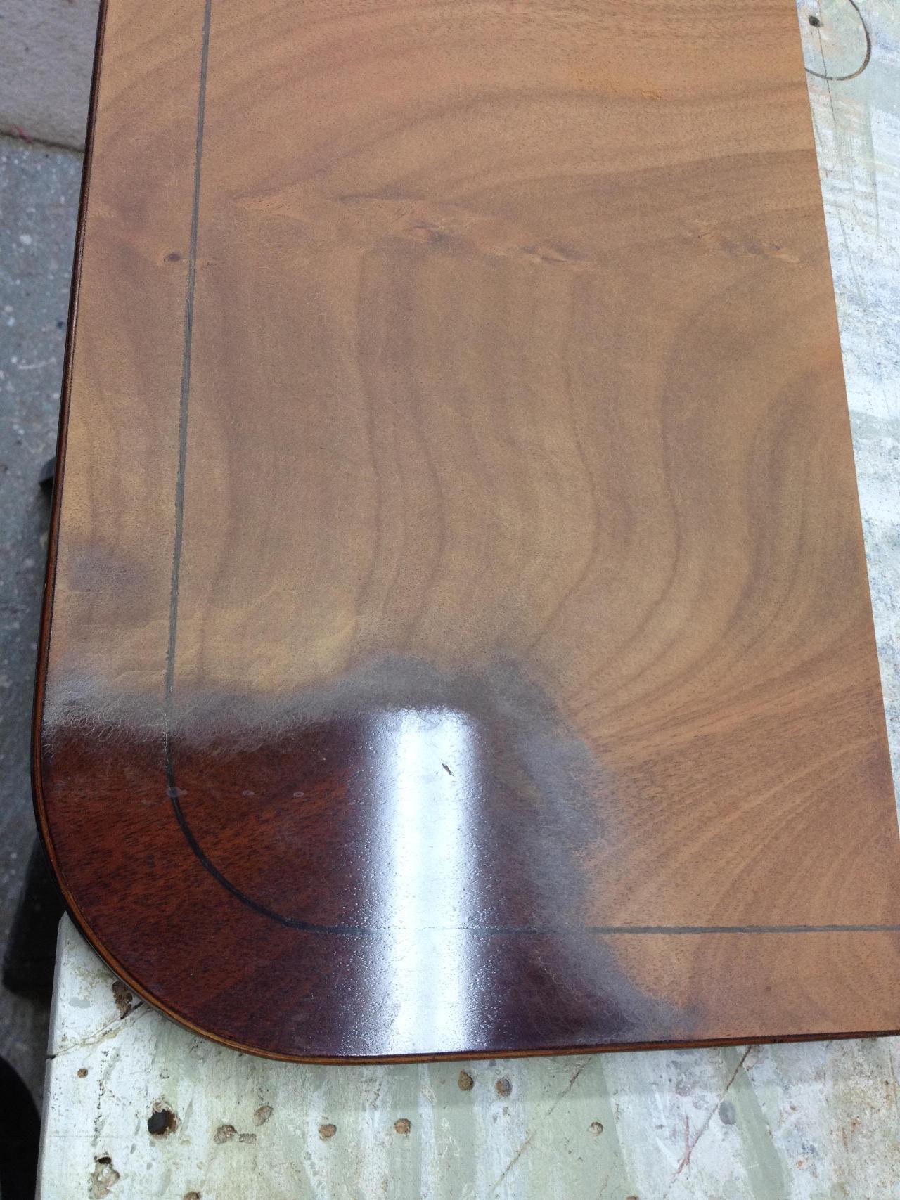 Rubbing off varnish