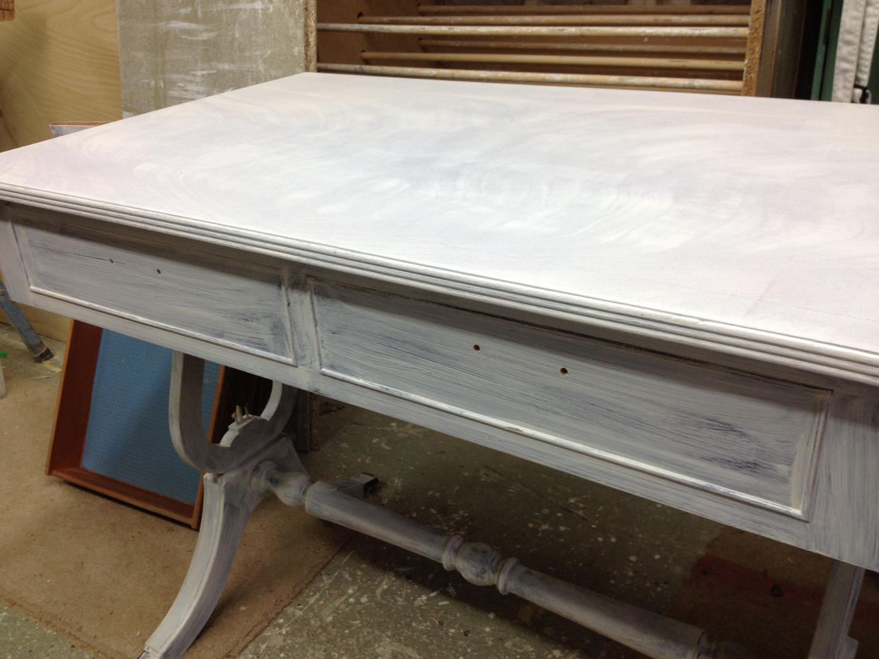 Rubbed down table