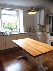 Dining table - sanded and treated