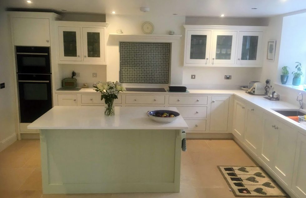 Newington hand panted kitchen