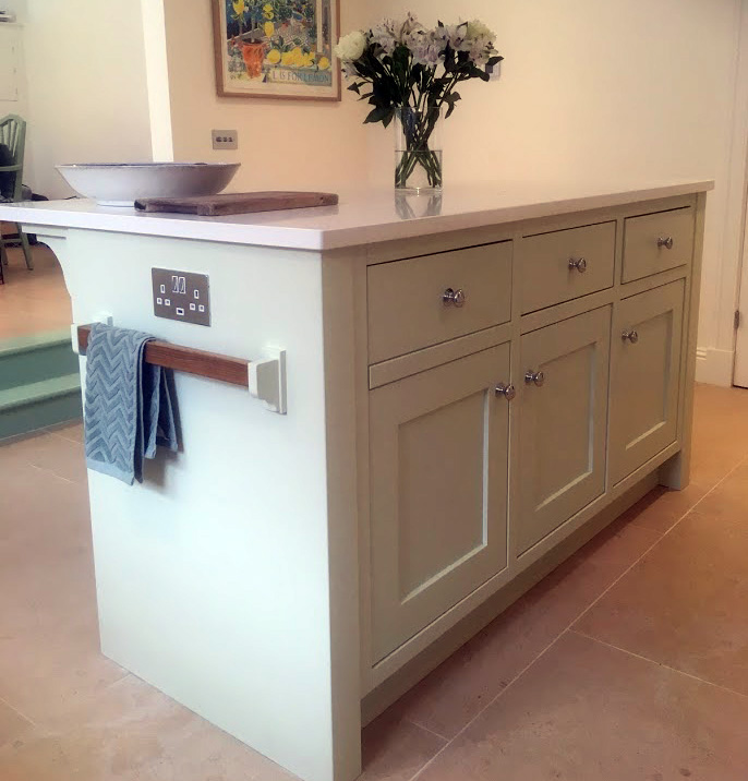 Hand painted kitchen island