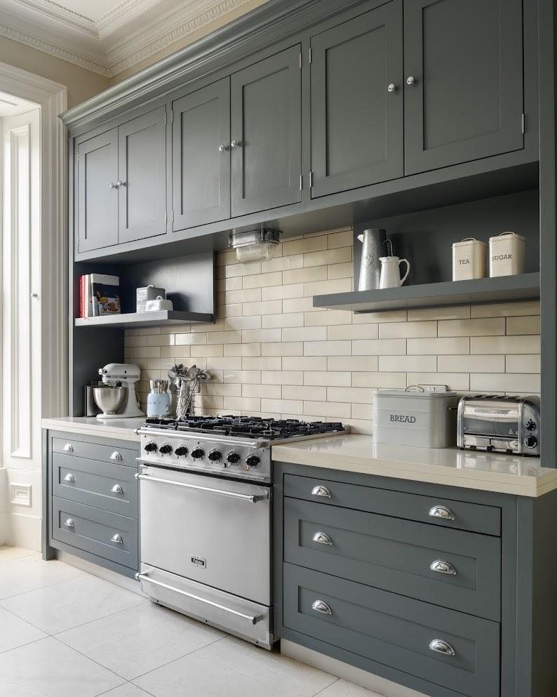 Grey handpainted kitchen